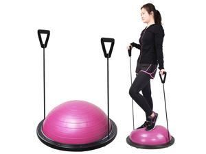 Yoga Exericse Balance Trainer Step Ball 59cm w/ Strings & Pump Pink