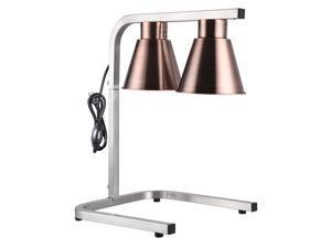 Aluminum Dual Heat Lamp Food Warmer Countertop Kitchen Buffet Court Restaurant