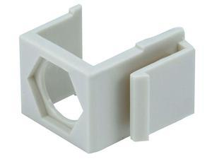 Battleborn Blank Insert for F type connector - 10 Pack (Ivory)
