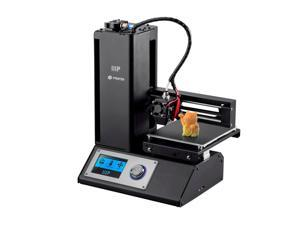 Monoprice Select Mini 3D Printer V2 - Black W/ Heated (120x120x120mm) Build Plate, Fully Assembled + Free Sample PLA Filament, MicroSD Card Preloaded