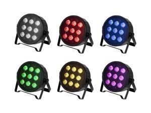 Monoprice Flat PAR Stage Light RGBW   10 watt, x 9 LED, 8-channel DMX, Strobe follow mode - Stage Right Series