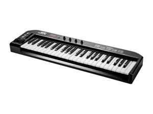 Monoprice MIDI Keyboard Controller - Black, 49 Key   Pitch-bend & Modulation wheels, Driverless plug and play for Windows and Mac PCs -  Stage Right Series