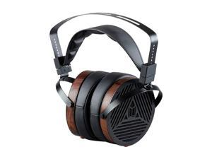 Monoprice Monolith M1060 Over Ear Planar Magnetic Headphones - Black/Wood With 106mm Driver, Open Back Design, Comfort Ear Pads For Studio/Professional