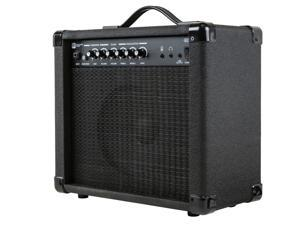 Monoprice 20-Watt 1x8 Guitar Combo Amplifier - Black With 86dB of Gain, 1/4 Inch, Headphone and 3.5mm Aux Mp3 Inputs For Electric Guitars