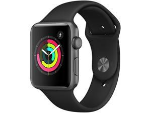Apple Watch Series 3, 42mm GPS ONLY (Space Gray Case with Black Sport Band)