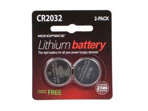 Monoprice CR2032 3V Lithium Battery, 2-Pack