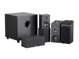 Monoprice Premium 5.1.2-Ch. Immersive Home Theater System - Black With 8 Inch 200 Watt Subwoofer