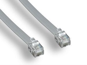 Monoprice Landline Telephone Cable - 50 Feet - RJ11(6P4C) Straight for Data