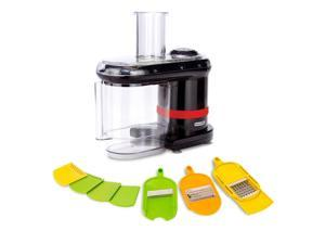 Dash Electric Mandoline food slicer chopper 150 watts 7 specialized blades large capacity container (Red)