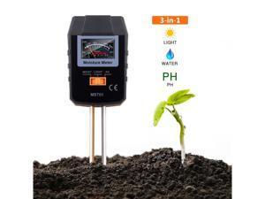 TACKLIFE Soil Test Kit, 3-in-1 Soil Moisture Meter for Moisture, Light and PH, Ideal for Garden, Plant, Farm, Lawn, Indo