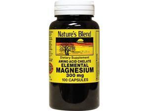 Nature's Blend Magnesium 300 mg Capsules - 100 ct