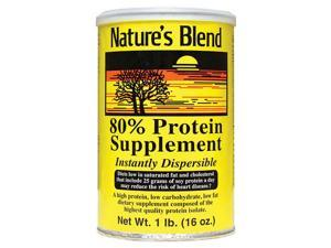 Nature's Blend Protein Powder 80% Soy Isolate 1 lb Pwdr