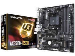 Gigabyte AMD AX370M DS3H Socket AM4 DDR4 Micro ATX Motherboard (GA-AX370M-DS3H)