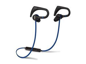 Veho ZB-1 Wireless Bluetooth In-Ear Sports Headphones with Inline Remote Control Microphone, Ear Hook and Flex Anti-Tangle Cable for Apple iPhone, iPad, iPod, Android Smartphone, Blue (VEP-007-ZB1)