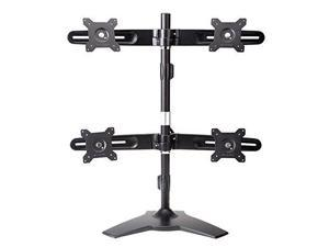"Amer Quad Monitor Stand. Supports four 24"" monitors weighing up to 17.5 lbs. VESA compatible"