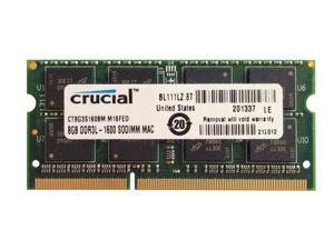 Crucial - DDR3 - 8 GB - SO-DIMM 204-pin - 1600 MHz / PC3-12800 - CL11 - 1.35 / 1.5 V - unbuffered - non-ECC - for Apple