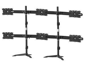 Hex Monitor Ultra Slim Stand Based Desk Mount. Supports 6  32 inch LCD/LED monitors. Vesa Mount 200mm x 100mm / 100mm x 100mm / 75mm x 75mm. Also ideal for 26, 27, 28, 29, 30 and 32 inch monitors.