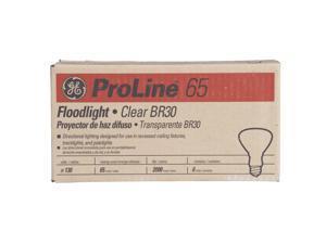 Ge Incandescent Indoor Floodlight Bulbs w/Reflector 65 Watts 130 Volt 6/Carton