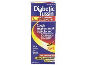 Diabetic Tussin Maximum Strength Cough Syrup, 8 Fluid Ounce