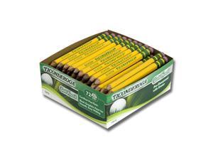Golf Pencils, HB (#2), Black Lead, Yellow Barrel, 72/Box 13472