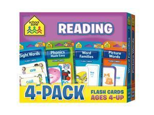 School Zone Reading Flash Cards 4 Pk 04045