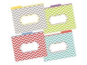 Letter Size File Folders Chevron
