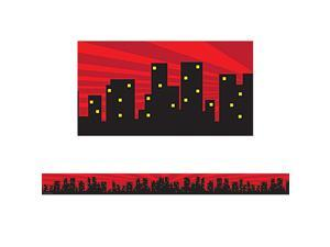Teacher Created Resources TCR5831 Superhero Cityscape Straight Trim Border
