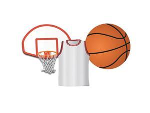 EUREKA EU-841248 BASKETBALL ASSORTED CUT OUTS