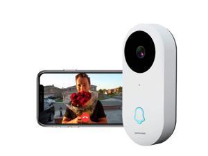 Dophigo Outdoor HD960P Wireless WiFi Doorbell Camera Smartphone CCTV Security Surveillance 2 Way Audio Night Vision and Free P2P Cloud Storage Service  Alexa Compatible