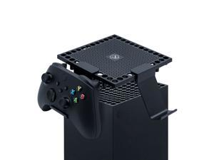 Dust Cover with Portable Controller Holder for Xbox Series X Console, Holder Stand Accessories for Xbox Series X Gaming Controller and Headsets