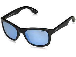 8925d187e6 Revo Unisex RE 1000 Huddie Polarized Sunglasses Matte Black with Blue Water  Lens