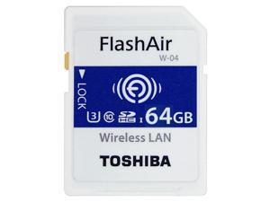 Toshiba FlashAir W-04  90MB/s 64GB Wireless WiFi SDHC UHS-I U3 Class 10 C10 Wireless SD Memory Card