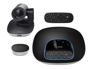 Logitech Group HD 1080p Video Audio Affordable Conferencing System Webcam 10x zoom Speakerphone with Bluetooth Business Webcam
