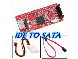IDE TO SATA 100/133 HDD/CD/DVD Converter Adapter + Cable New