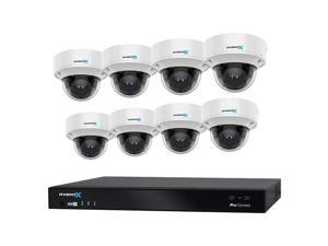 AvertX 16-Channel 4K NVR Smart Analytics System with 8TB HDD and 8 4K Analytics Dome Cameras AVXKT4CPC16088T Security Camera Surveillance