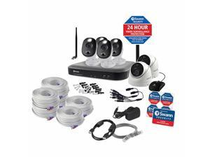 Swann 4K DVR Security Kit with 8-channel DVR, 4 Sensor Warning Light Cams and 2 Dome Cams CODV8-55802D4WLWF-US