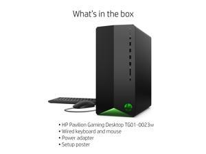 HP Pavilion Gaming R5 1650 Super, 8GB/256GB Gaming Desktop Tower PC Computer TG01-0023w