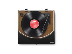 Ion IT94WD Premier LP Turntable with Built-in Stereo Soundbar (Brown Stained Wood)