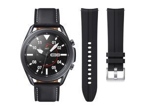 Samsung Galaxy Watch3 45mm Smartwatch - Mystic Black - Bonus Band Included SM-R840NZKCXAR Smart Watch