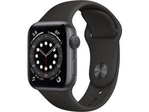 Apple Watch Series 6 (GPS, 40mm, Space Gray Aluminum, Black Sport Band)