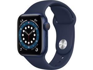 Apple Watch Series 6 (GPS, 40mm, Blue Aluminum, Deep Navy Sport Band) MG143LL/A Smart Watch Smartwatch