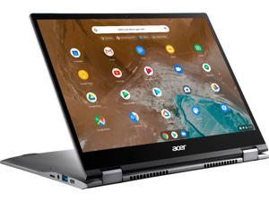 """Acer - Chromebook Spin 713 2-in-1 13.5"""" 2K VertiView 3:2 Touch - Intel i5-10210U - 8GB Memory - 128GB SSD – Steel Gray Laptop Tablet Notebook PC"""