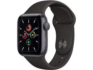 Apple Watch SE MYDP2LL/A (GPS, 40mm) - Space Gray Aluminum Case with Black Sport Band