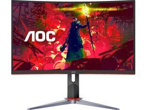 "AOC - G2 Series C27G2 27"" LED Curved FHD FreeSync Premium Monitor (DisplayPort, HDMI, VGA) - Black/Red"