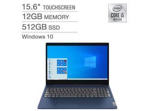 "Lenovo IdeaPad 3 15.6"" Touchscreen Laptop - 10th Gen Intel Core i5-10210U - 768p Notebook 12GB Memory RAM 512GB SSD 81WR0007US"