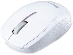 Acer RF Wireless Optical M501 White Mouse with USB Plug and Play for Windows PC, Mac and Certified Works with Chromebook