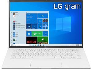 "LG Gram Thin & Light Laptop - 14"" IPS WUXGA (1920 x 1200) 11th Gen Intel Core i5 1135G7 CPU, Intel Iris Xe Graphics, 8GB RAM, 256GB NVMe SSD, 25.5 Hour Battery - 14Z90P-K.AAW5U1 - White (2021) PC"