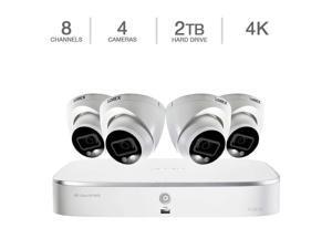 Lorex 8-Channel, 4 Smart 4K Dome Cameras, 4K Ultra HD NVR Security System  Surveillance N84282T-8DD4