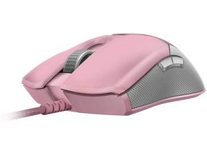 Razer Viper Ultralight Ambidextrous Wired Gaming Mouse: 2nd Gen Razer Optical Mouse Switches - 16K DPI Optical Sensor - Chroma RGB Lighting - 8 Programmable Buttons - Drag-Free Cord - Quartz Pink