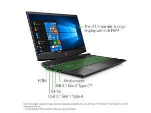 HP Pavilion Gaming 15-Inch Laptop, Intel Core i5-9300H, NVIDIA GeForce GTX 1650, 12GB RAM, 256GB SSD, Windows 10 (15-dk0041nr, Black) Notebook PC Computer